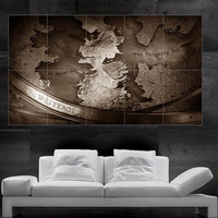 Game of thrones Westeros map poster print art huge big picture wall 10 parts  free shipping NO307