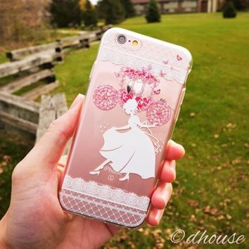 MADE IN JAPAN Soft Clear Case for iPhone 6/6s - Cinderella Slipper