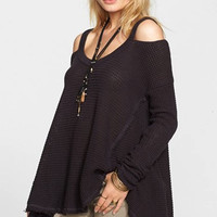 Effortless Style Waffle Knit Tunic