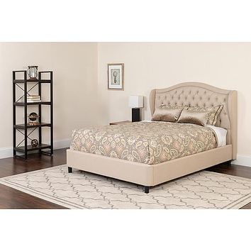 Valencia Tufted Upholstered Platform Bed