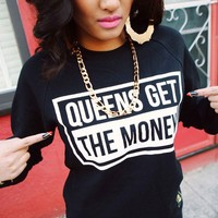 QUEENS — Block Crewneck Sweatshirt