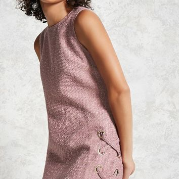 Grid Tweed Mini Dress