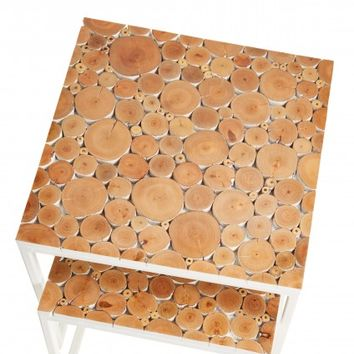 Glossed Nesting Table Set | Calypso St. Barth