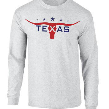 'Texas Horns' Long Sleeve Tee