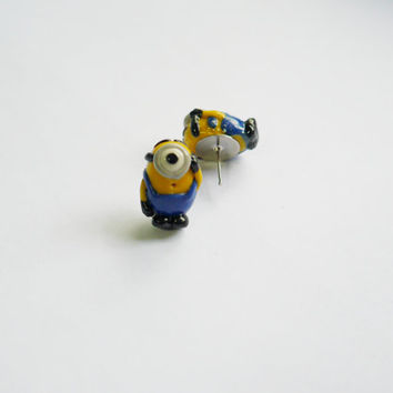 Minion Polymer Clay Earrings