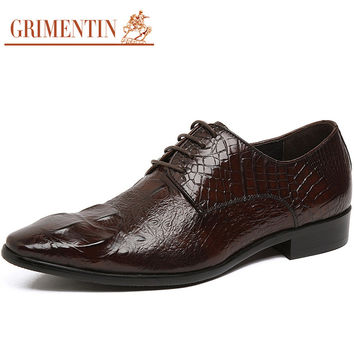 male casual shoes black brown lace up Handmade fashion formal genuine leather men dress shoes summer