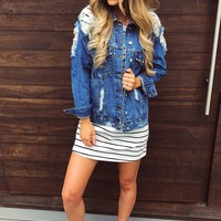 Someone Like You Jacket: Denim
