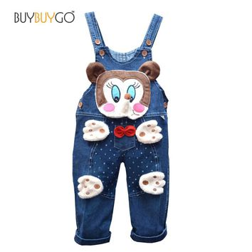 SALE Baby Rompers Brand High Quality Denim Overalls Infant Clothing Autumn Animal Baby Boy Girl Jeans Jumpsuit Baby Clothes 0-2Y