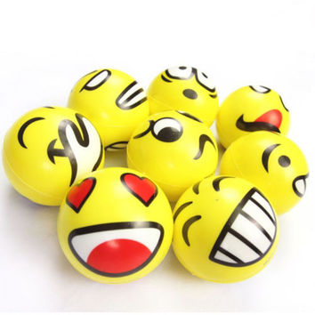Funny Smiley Face Anti Stress Reliever Ball ADHD Autism Mood Toys Squeeze Relief