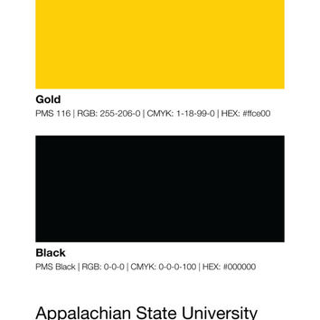Appalachian State Colors Print, Football Wall Art, Mountaineers Decor, Pantone Poster, Husband Gifts For Him, Boyfriend Gift, Man Cave