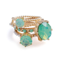 Mint Julep Ring Set