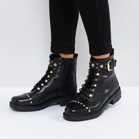 Carvela Son Leather Lace Up Boots at asos.com