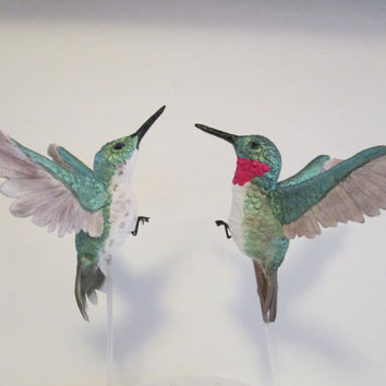 hummingbird cake topper ruby throated sugar edible gum paste wedding bridal