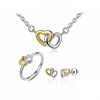 925 Sterling Silver Heart to Heart Jewelry Set