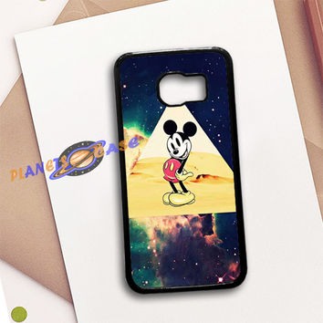 disney Mickey mouse Hipster Triangle Galaxy Samsung Galaxy S6 Case Planetscase.com