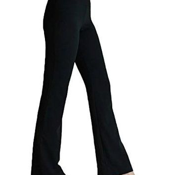 FITIBEST Women Yoga Pants Bootcut Tummy Control Stretchy Bootleg High Waist Sports Trousers with Inner Pocket
