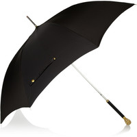 Alexander McQueen | Gold-tone skull handle umbrella | NET-A-PORTER.COM