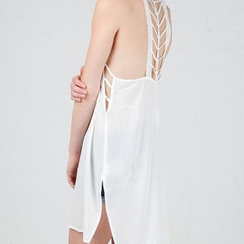ANGL | Arrow Lace Back Flowy Dress