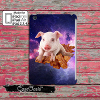 Pig On A Bacon Raft In A Space Galaxy Funny Tumblr Inspired Cute Custom iPad Mini, iPad 2/3/4 and iPad Air Case Cover