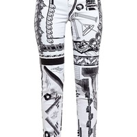 Anthony Vaccarello X Versus Versace abstract print jeans