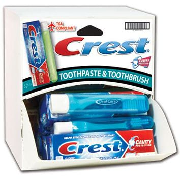 Crest Travel Toothpaste and Brush Combo Dispensit Case Pack 144
