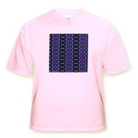 Angry Alien Tribal Geometric Abstract Pattern Textile - Toddler Light-Pink-T-Shirt (2T)