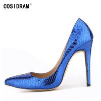Fashion Red Bottom Pumps Women Pointed Toe Pumps Snakes kin Thin High Heels Pumps Weeding Shoes Womens Party Shoes BSN-089