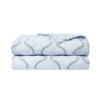 Ornement Quilted Coverlet by Yves Delorme