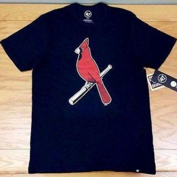 "ST. LOUIS CARDINALS '47 Brand ""Crosstown Scrum Tee"" Retro MLB T-Shirt Tee Shirt"