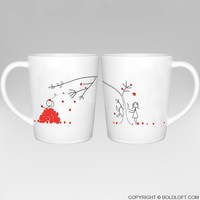 Love You Madly™ His & Hers Matching Couple Coffee Mug Set,Cute Gifts for Him for Her,Valentines Day,Christmas,Wedding,Anniversary