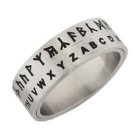 Hobbit Translator Ring Silver Size 06