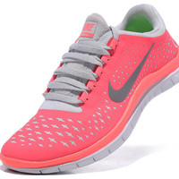 Nike Free 3.0 V4 Womens Running Shoes - Pink/Grey [nikeshoes30016] - $64.89 : Nike Free Run | Nike Free 3.0 Running Shoes | Nike Free 5.0 Running Shoes