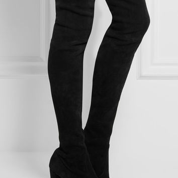 Stuart Weitzman - Highland stretch-suede over-the-knee boots