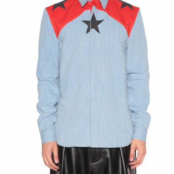 Givenchy Denim shirt with stars