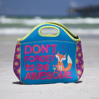 Fox Be Awesome Neoprene Lunch Bag