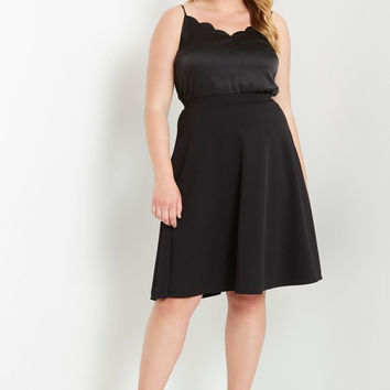 Mod Ribbed Midi Skirt Plus Size