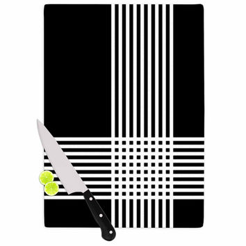 "Trebam ""Krizanje v2"" White Black Cutting Board"