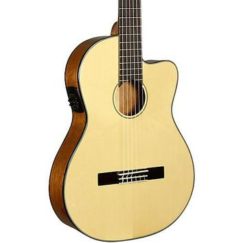 Kala Solid Spruce Top Thinline Acoustic Electric Nylon Guitar