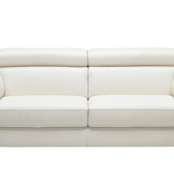 Color Customizable Leather 2-Seat Sofa Torre by Natuzzi Editions