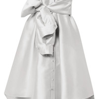 Alexis Mabille - Bow-detailed satin mini dress