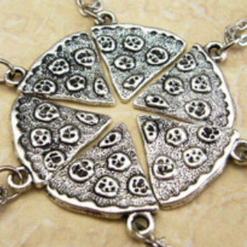 Pizza Slice Necklace Silver