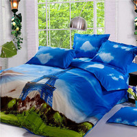 Duvet Cover Set - Dolce Mela Bedding with Effiel 4pc Cotton Bedding Set - Queen Duvet Cover with sheet and 2pc pillow covers