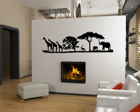 Vinyl Wall Decal African Savannah Animals From Cuttinupcustomdiec