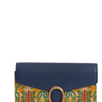 Gucci Dionysus Brocade Wallet on a Chain | Nordstrom