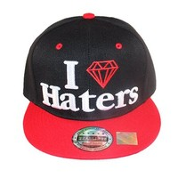 Hat Reserve I Love Haters Diamond Black Red