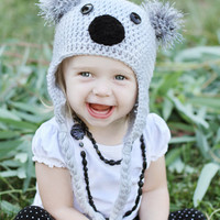 CROCHET PATTERN Koala Bear Hat INSTANT Download / Crochet Koala hat Pattern for pictures / Pattern for kids / Koala Hat Pattern for kids
