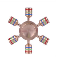 Fidget Tri-Spinner copper Rotation Long Time