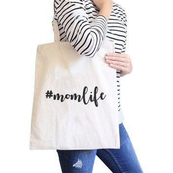 Momlife Natural Canvas Diaper Bag Unique Design For Soon To Be Moms