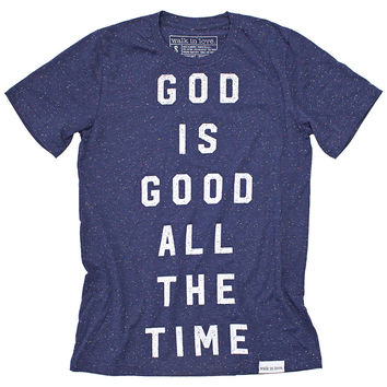 God Is Good Navy Speckled T-Shirt
