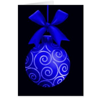 Blue Sandstone Ornament Christmas Cards